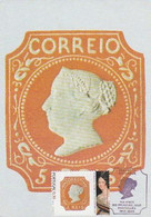 Portugal & Maximum Card, 150 Years Of The First Portuguese Stamp Issuance, 5 Reis D. Maria II, Lisbon 2013 9887) - Maximum Cards & Covers
