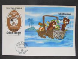 FDC Walt Disney Turks Caicos 1981  //  C3024 - Fiabe, Racconti Popolari & Leggende