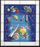 ALLEMAGNE DDR MI 1636 A 1643 SE TENANT NEUFS ** THEME ESPACE - Unused Stamps