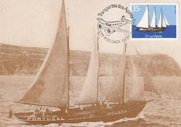 Portugal & Maximum Card, Transports Of The Azores, Chalupa Helena, Ponta Delgada 1991 (75) - Maximum Cards & Covers