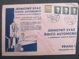 BRIEF Brno - Praha Auto Oldtimer 1937  //  C2849 - Covers & Documents