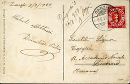 66956 Danzig, Circuled Card 1929  From Danzig To Italy - Danzig