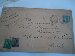 FRANCE  COVER REGISERED    1891   2 SCAN - Unclassified