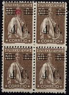 PORTUGAL 1928 30C Ceres  Block X 4 - - MNHOG No Faults - Unclassified