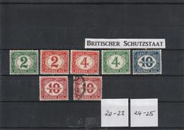 Ägypten 1921  Portomarken  Mi.Nr. 20-25 - 1915-1921 British Protectorate