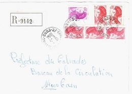 EVREUX Lettre Recommandée Liberté Yv 2244 2274 2184 2179 - 1982-90 Liberté De Gandon
