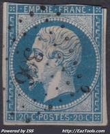 FRANCE CLASSIQUE : EMPIRE N° 14 OBLITERATION PC 366 BERCK PAS DE CALAIS - 1853-1860 Napoleon III