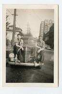Snapshot Superbe Couple Love Etc Femme Woman Homme Man Pin-up Voiture Car Usa à Situer Identifier Washington 40s - Automobile