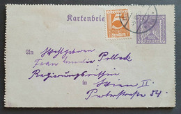 Österreich 1925, Kartenbrief MiF Krone/Schilling - Covers & Documents