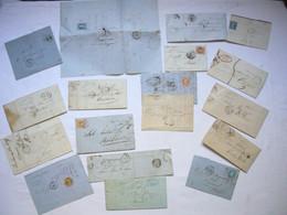 Lot De 18 Lettres  France Anciennes - 1849-1876: Klassieke Periode