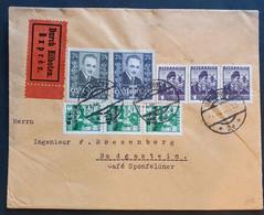 """Österreich 1936, EILBOTEN Brief MiF """"Winterhilfe"""" INNSBRUCK Gelaufen BAD GASTEIN - Covers & Documents"""
