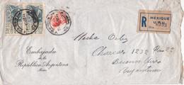 EMBAJADA DE LA ARGENTINA, MEXICO. ENVELOPPE AVEC DOCUMENT DE MECHA ORTIZ, ACTRICE ARGENTINE. AN 1959.- LILHU - Historical Documents