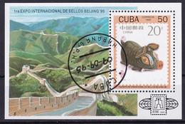Kuba Block 139 Gestempelt, Internationale Briefmarkenausstellung BEIJING'95 In Peking - Blocks & Sheetlets