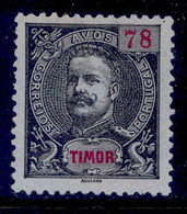 ! ! Timor - 1898 D. Carlos 78 A - Af. 73 - NGAI - Timor