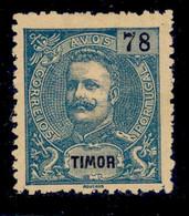 ! ! Timor - 1903 King Carlos 78 A - Af. 110 - NGAI - Timor