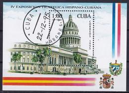 Kuba Block 141 Gestempelt, 4. Spanisch-kubanische Briefmarkenausstellung In Havanna - Blocks & Sheetlets