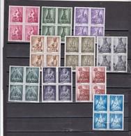 España Nº 1132 Al 1141 En Bloque De Cuatro - 1951-60 Neufs