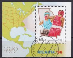 Kuba Block 140 Gestempelt, Olympische Sommerspiele 1996 In Atlanta - Boxen - Blocks & Sheetlets