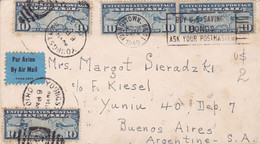 USA. ENVELOPPE CIRCULEE AVEC LABEL, ANNEE 1940, YOUNGSTOWN OHIO A BUENOS AIRES ARGENTINE. PAR AVION.- LILHU - Briefe U. Dokumente