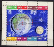 ALLEMAGNE DDR MI 966 A 944 SE TENANT OBLITERES THEME ESPACE - Briefe U. Dokumente