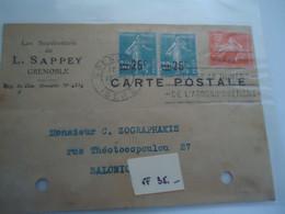 FRANCE CARTE  POSTALE 1927   GRENOPLE   2 SCAN - Unclassified