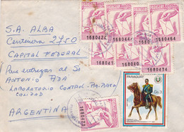 "PARAGUAY. ENVELOPPE CIRCULEE CIRCA 1960, ASUNCION A CAPITAL FEDERAL ARGENTINE. ""ADICIONAL PRO-CARTERO"".- LILHU - Paraguay"