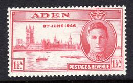 ADEN - 1946 VICTORY 1½d FINE MOUNTED MINT MM * SG 28 REF A - Aden (1854-1963)