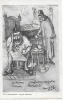 """WW1 - CPA SATIRIQUE - GUILLAUME II """" Maufaises Nouvelles """" FRANCOIS JOSEPH D'AUTRICHE"""" Che Le Sens """"- PATRIOTIQUE - 1915 - Patriottiche"""