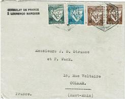 CTN74 - LOURENCO MARQUES LETTRE DU CONSULAT DE FRANCE 21/5/1935 - Lourenco Marques