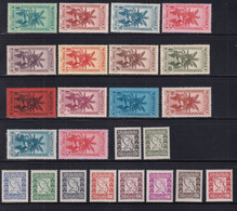 MARTINIQUE - TAXE 1933/1947 COMPLETE ! - YVERT N° 12/36 * MLH - COTE 2022 = 42 EUROS - - Unused Stamps