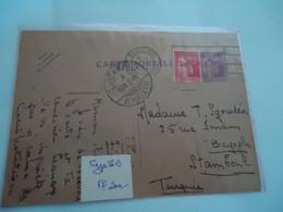FRANCE CARTE  POSTALE 1934 PAIS POSTED BEYGLU    TURKEY - Unclassified