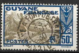 Guyane-Yvert N°120 Oblitéré CAYENNE A FORT DE FRANCE - Used Stamps