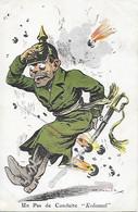 """WW1 - CPA SATIRIQUE - GUILLAUME II - Un Pas De Conduite  """" Kolossal """"  PATRIOTIQUE - 1914 -1918 Illustrateur Muller - Patriottiche"""