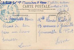 Tampon 30eme Régiment D'artillerie 1er Escadron D'étapes (7eme Peloton) SP N° 24 Carte Langeais Pour Joinville Le Pont - Oorlog 1914-18