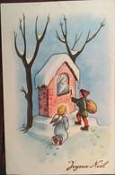 Cp, Joyeux Noël, Illustration Signée BY ?, Ange, Enfant, Bougie, Nativité, éd VETTA 1605 - Sonstige