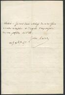 AUTOGRAPHE - LETTRE MANUSCRITE DE 4 PAGES DE JULES FAVRE (1809/1880) AVOCAT & HOMME POLITIQUE , DU 5/12/1865 - SUP - Autographes