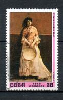 CUBA Oeuvres De José Arburu Morel 1976 N°1903 - Used Stamps