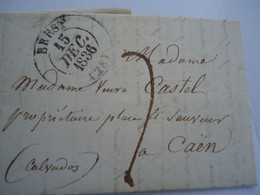 FRANCE COVER  1836 BRES - Unclassified