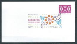 VERINIGTE STAATEN ETATS UNIS USA 2016 COLORFUL CELEBRATIONS: ROSE PINK FLOWERS FDC MI 5278 YT 4904 SC 5084 - 2011-...