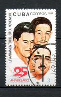 CUBA Forces Armée Révulotionnaires 1981 N°2308 - Used Stamps