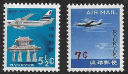Japan - Ryukyu Islands 1963 ☀ Airmail Set ☀ Mint Never Hinged (**) - Unused Stamps