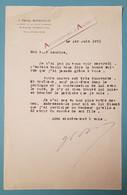 Joseph PAUL-BONCOUR à Maurice Rostand - Avocat Célèbre Orateur Fut Président Du Conseil - Né Saint Aignan - Lettre 1951 - Autographes