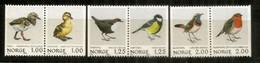 Passereaux De Norvège.  6 Timbres Neufs ** - Pájaros Cantores (Passeri)