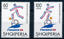 Albania Stamp 1998. WORLD FOOTBALL CHAMPIONSHIP, SOCCER SPORT CUP, FIFA. FRANCE 98. Set MNH. Mich.2654-2655 - Albania
