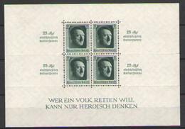 ГЕРМАНИЯ    Michel  БЛОК # 9   1937  MNH* - Blocks & Kleinbögen