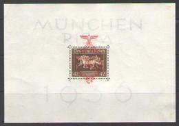 ГЕРМАНИЯ    Michel  БЛОК # 10   1937  MLH OG - Blocks & Kleinbögen