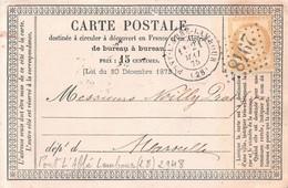 Carte Précurseur   PONT L  Abbé LAMBOURG ( Finistére ) En 1875 ( 15 C Ceres  ) Bureau 2948 - 1877-1920: Semi-moderne Periode