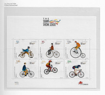PORTUGAL STAMP - 2000 100 YEARS OF THE INT. CYCLIST UNION MINISHEET MNH (CRL6#22) - Unused Stamps