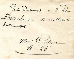 Dédicace De  Paul Deschamps Au R. Père Fourel Sur 1ère Page Partition Ayant Appartenu à La Musicienne Marie Galesne - Autographes