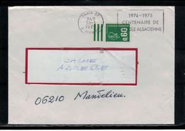 YT  1814  SSL/FR  OBL FLAMME PARIS 07  30/1/1975  CENTENAIRE DE L'ECOLE ALSACIENNE 1974-1975 - Mechanische Stempels (reclame)